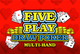 Game King Five Play Draw Poker